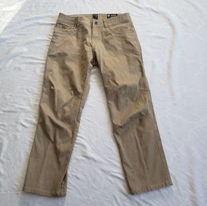 Kuhl vintage patina dye pant mens 34 x 30 stains